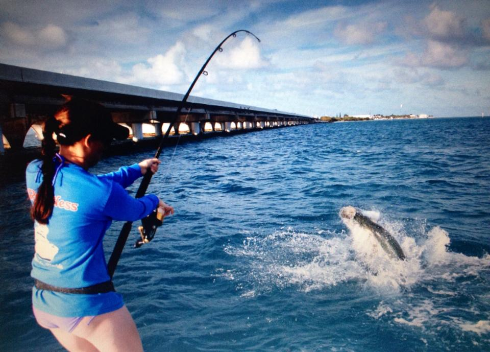 4 19 13 tons of tarpon in key largo key largo fishing report for Key largo fishing report